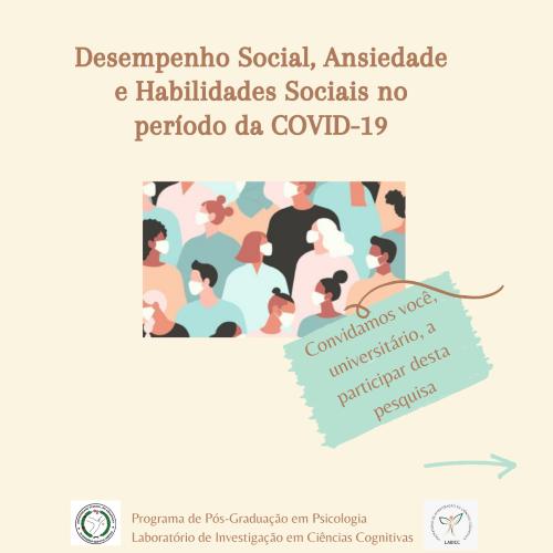 Pesquisa de Mestrado: Desempenho Social, Ansiedade e Habilidades Sociais no período da COVID-19